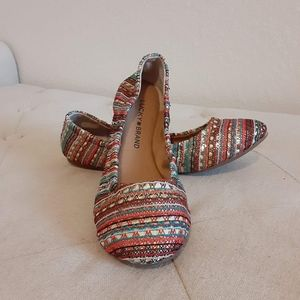 New LUCKY BRAND Emmie Ballet Flats Multicolored